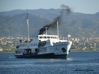 Ship at the Izmit gulf.Izmit.Turkiye.
