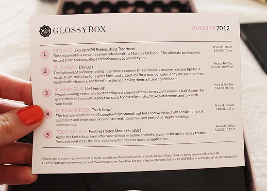 glossybox august 5