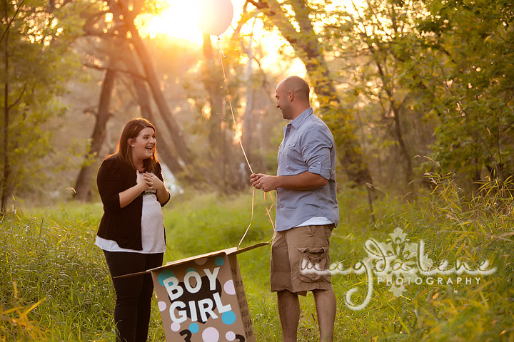 baby gender reveal session ballons wisconsin photographer
