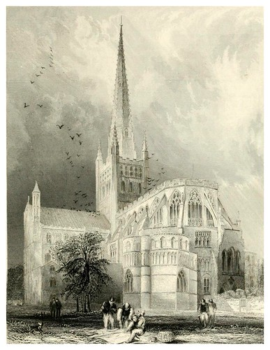 018-Catedral de Norwich-Winkles's architectural and picturesque illustrations of the catedral..1836-Benjamin Winkles