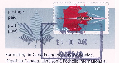 Canada Olympic Rowing 2012 Stamp