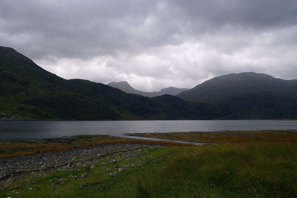Stormy clouds over the Kintail Hills