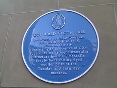 Photo of Coloured Cloth Hall, Leeds blue plaque
