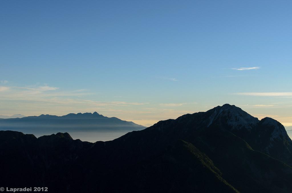 八ヶ岳と甲斐駒ヶ岳