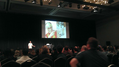 Bill DeRouchey on stage at UX Australia