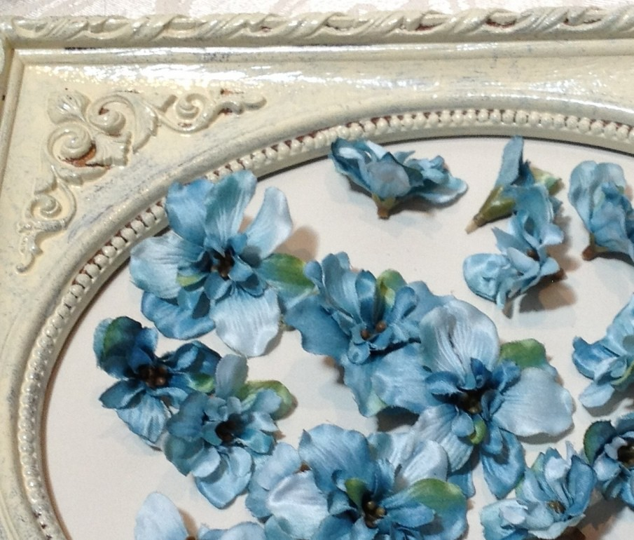 blue wedding silk flowers
