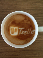 Today's latte, Trello.