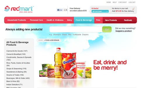 Singapore Lifestyle Blog, nadnut, Easy shopping with RedMart, Easy Online Shopping, Online grocer, O