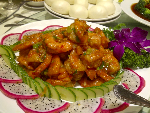 Marinated & Fried Prawns
