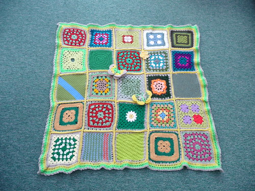 Thanks to everyone that sent in squares for this blanket.