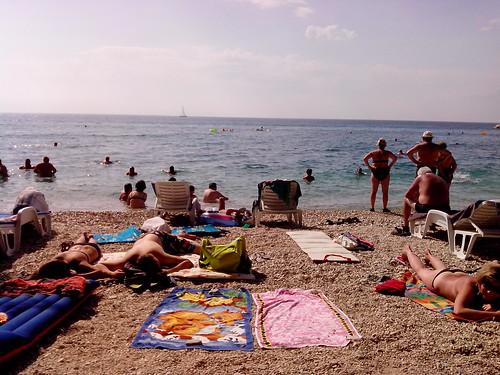 Sulla spiaggia di Baška Voda