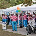 Ice Cream Queue | After the final audience member and author have left the gardens the Book Festival staff (along with a few Wallies) line up for a much needed ice cream