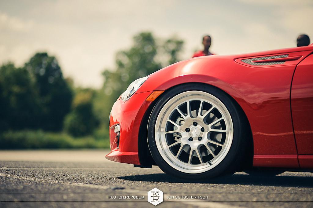 klutch sl14 on red subaru brz wheels scion frs 18x8.5 18x9.5