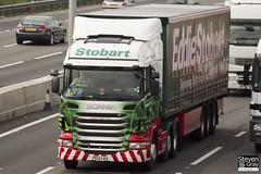 Scania R440 6x2 Tractor - PE12 LKA - Lauren Jade Anna - Green & Red - Eddie Stobart - M1 J10 Luton - Steven Gray - IMG_6123