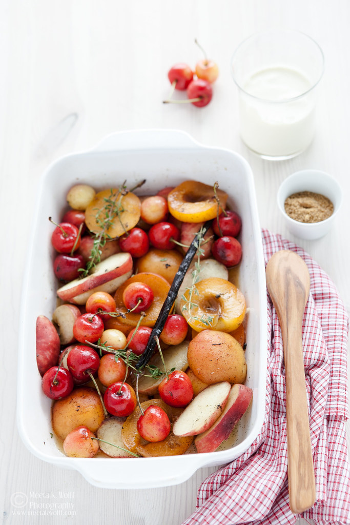 Vanilla Roasted Stone Fruit by Meeta K. Wolff