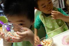 朝御飯とらちゃん (2012/9/11)