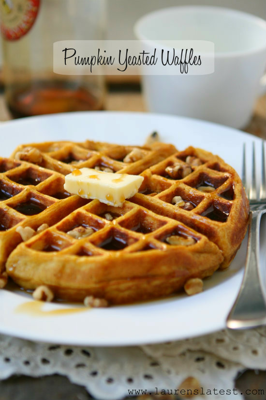 Pumpkin Yeasted Waffles