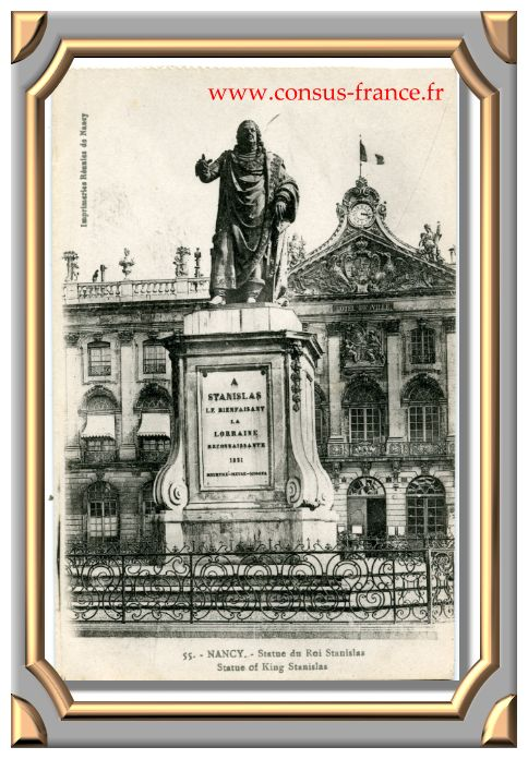 55. - NANCY. - Statue du Roi Stanislas. Statue of King Stanislas -70-150