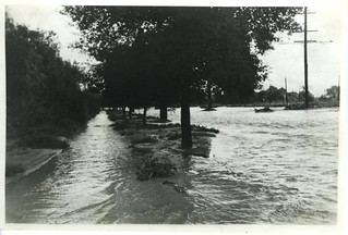 First Street during the 1938 flood