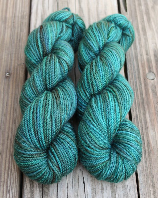 BFL Aran - Deep Turquoise - Kettle Dyed