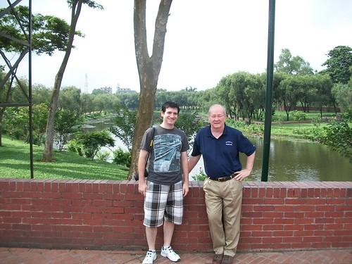 Jim and Stephen in dhaka