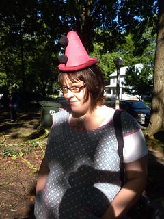 Hart Estate Book Sale - Nadja and her pink hat