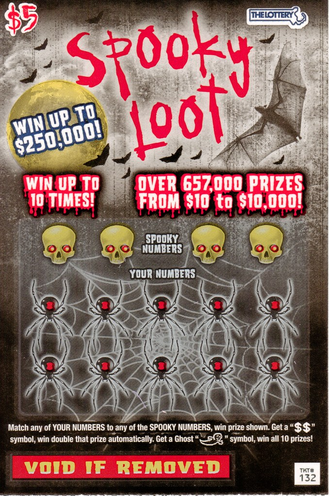Massachusetts Halloween Spooky Loot lottery ticket 2012