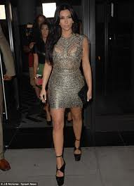 Kim Kardashian Bandage Dress Herve Leger Celebrity Style Women's Fashion 1