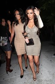 Kim Kardashian Bandage Dress Herve Leger Celebrity Style Women's Fashion 2