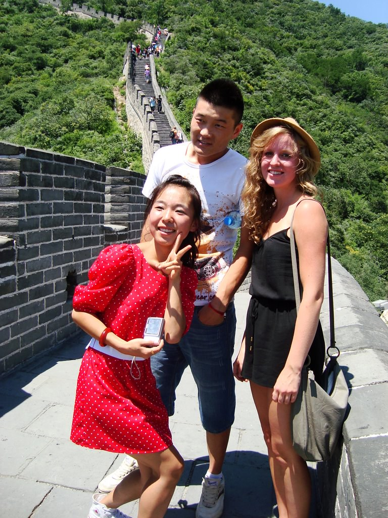 photo op on the Great  Wall