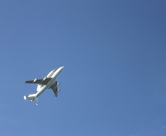 Space Shuttle Endeavour Flies Over Alameda, California