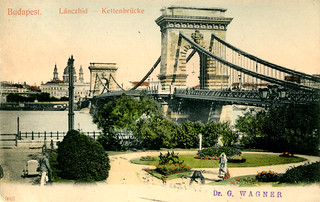 Budapest - Chain Bridge (1905 Postcard)