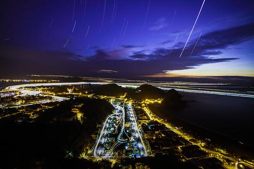 sunrise taiwan 宜蘭 startrails 星軌 晨昏 南方澳漁港 船軌 昭安觀景台