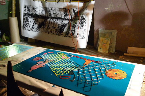 the plate and woodcut print