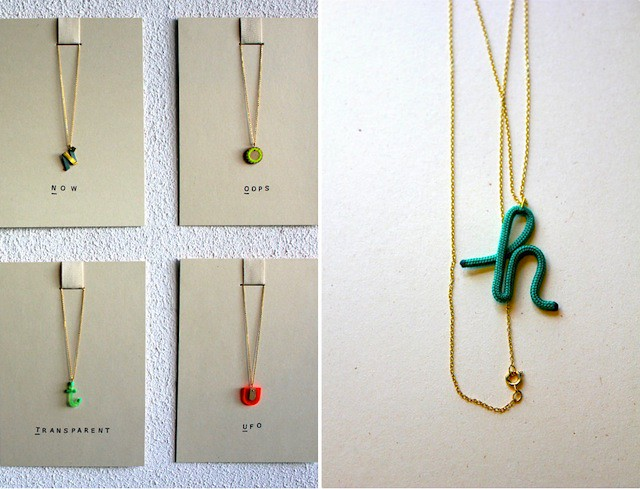 ABC necklaces Sandra Turina