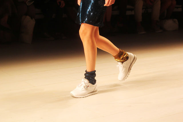 Ashish sequin socks SS13 London Fashion Week