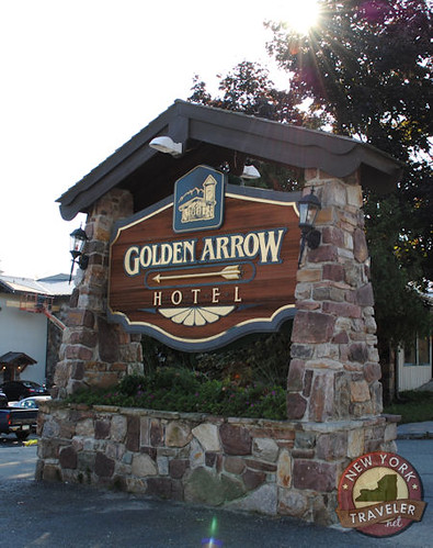 Golden Arrow Sign