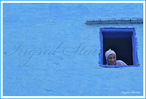 382. Woman at the Window, Chaouen, Morocco