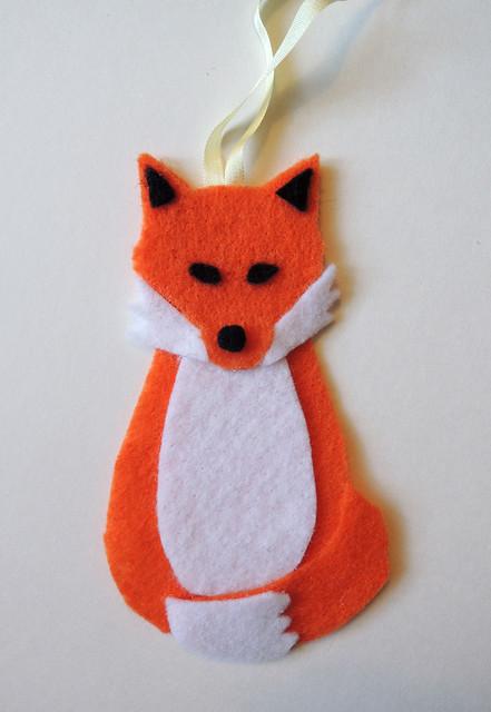 Fox Ornament Craft Paper