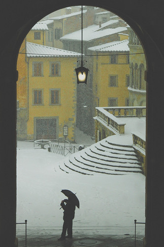 Piazza Grande sotto la neve by David Butali
