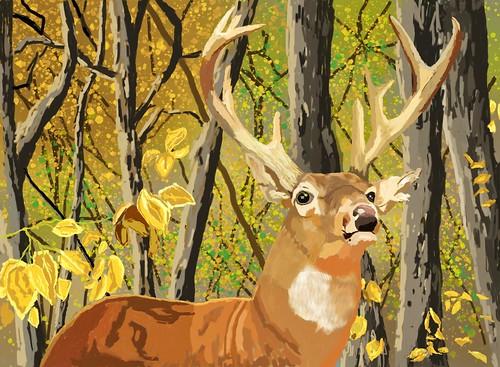 [フリー画像素材] グラフィック, フォトレタッチ, グラフィック - 動物, 鹿・シカ ID:201210011800