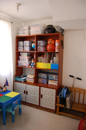 Home organizing after