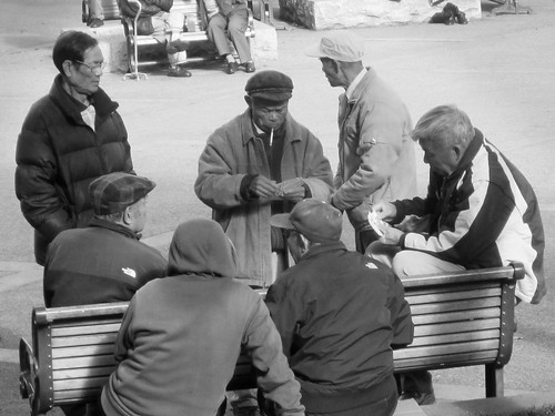 Playing Cards in Chinatown