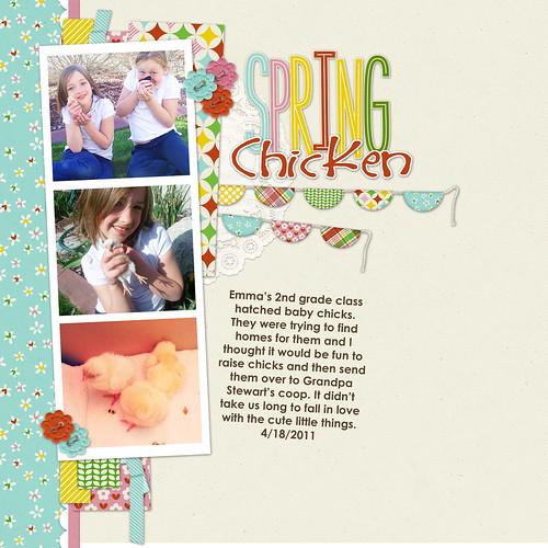7 spring chicks