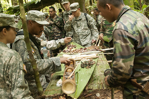 Soldiers learn survival skills during Keris Strike 2012