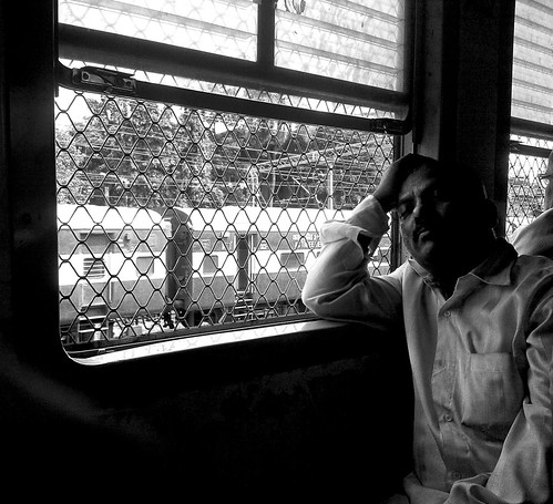 Asleep (Local train travel, Mumbai)