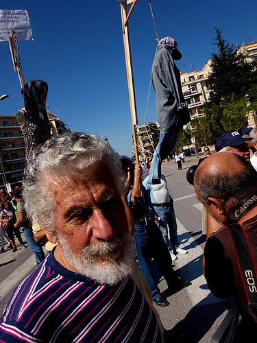 Angry pensioners take part in Greek general strike march by Teacher Dude's BBQ