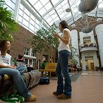 tour-0008 -- The interior of the Center for Natural Science features a spacious sunlit atrium.