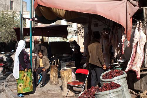 Tienda en el casco antiguo de Kashgar