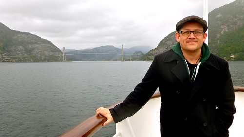 Me on a boat around the fjords